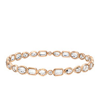 Rose Gold & Multi-Cut Rock Crystal Bangle Bracelet by Ivanka Trump at Gilt