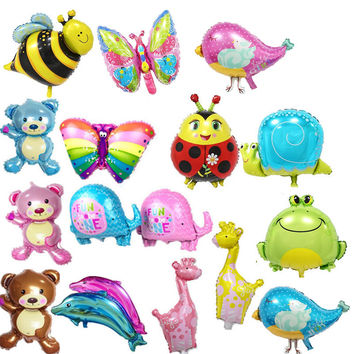 20 type mini bear giraffe balloon Elephant butterfly balloons aluminum dolphin balloons 40*30 cm birthday party balloon