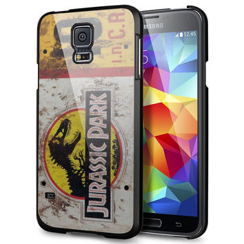 Jurassic Park License Plate Jeep for Samsung Galaxy S5