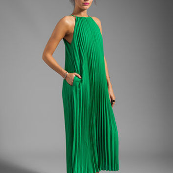Line & Dot Pleated Maxi Dress in India Green from REVOLVEclothing.com