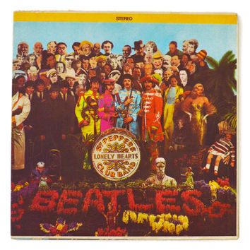 Vintage 60s The Beatles Sgt. Pepper's Lonely Hearts Club Band Gatefold Stereo Album Record Vinyl LP