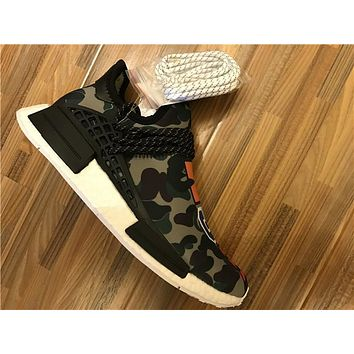 Adidas N M D Camouflage green grey Basketball Shoes 40-47