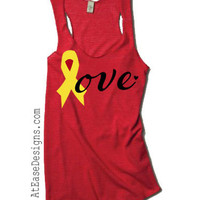 Support our troops, yellow ribbon Tank - red friday, military love remember everyone deployed at ease designs usmc navy army usaf uscg