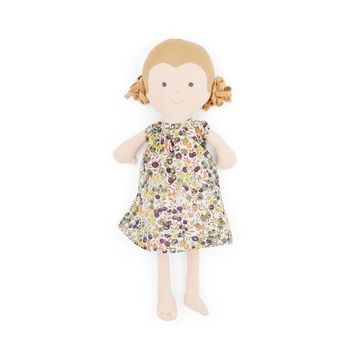 Fern Organic Girl Doll by Hazel Village - Liberty London dress