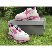 2019 Balenciaga Triple S Trainers Women White/Pink