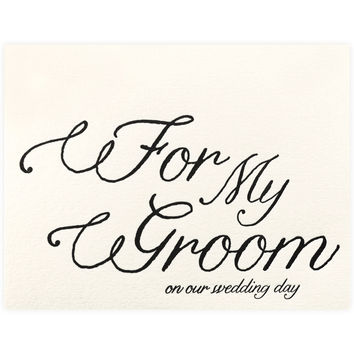 For My Groom
