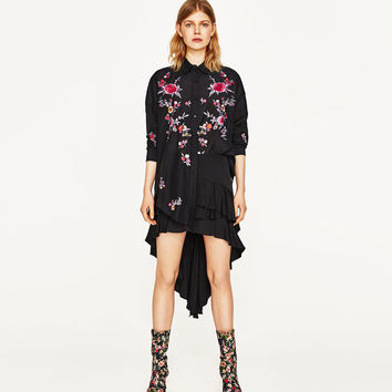 FLORAL EMBROIDERY SHIRT DETAILS
