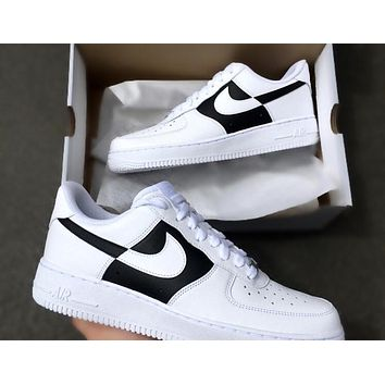 CDG Custom Air Force 1 black white