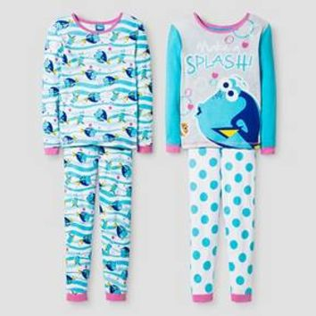 Finding Dory Girls' Pajama Set - Blue : Target