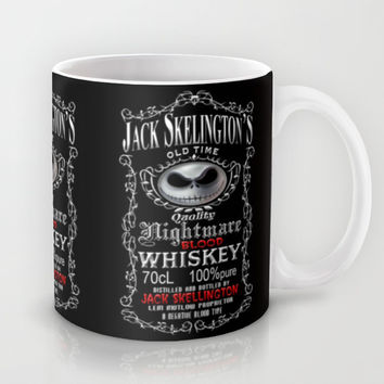 Halloween Parody Nightmare Blood jack skellington Whiskey Mug by Three Second