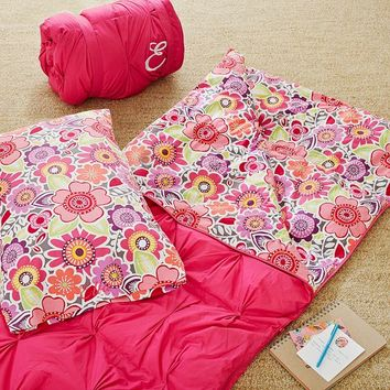 Pin Tuck Sleeping Bag + Pillowcase, Laura Floral