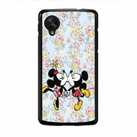 Mickey Kiss Minnie Disney Flowers Nexus 5 Case