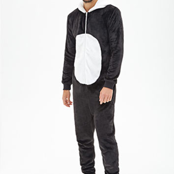 Plush Panda Jumpsuit Black/White