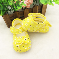 0-18 Months Infant Prewalker Toddler Girls Kid Bowknot Soft Anti-Slip Crib Shoes