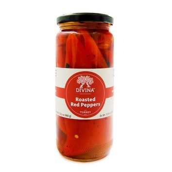 Divina Roasted Red Peppers, 16.2 oz (460 g)