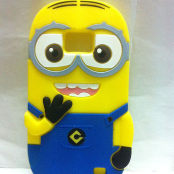 Sales hot 3D Minions Phone Silicone soft Case For Samsung Galaxy S2 S 2 II GT-I9100 i9100 9100 Cases Gel Shell