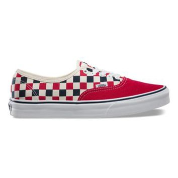 Vans Golden Coast Authentic (red/blue/check)