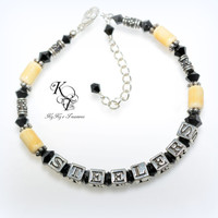 Steelers Bracelet, Pittsburgh Steelers, Steelers Jewelry, Football Jewelry, Steelers Accessories, Steelers Gifts, Gifts for Her, Football