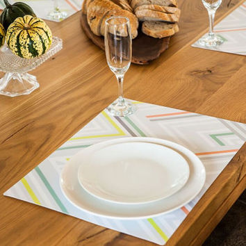 Set of 5 Stylish Placemat in Grey