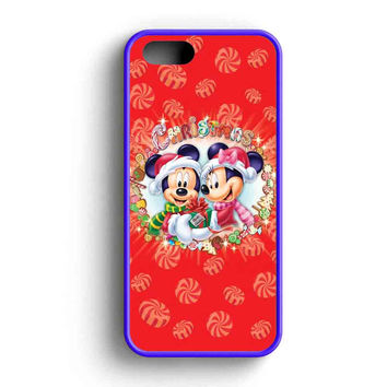 Mickey And Minnie Mouse Disney Christmas iPhone 5 Case iPhone 5s Case iPhone 5c Case