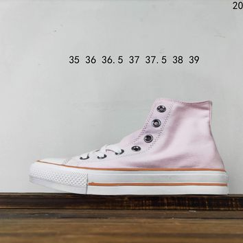 Kuyou Fa19630 Converse Chuck Taylor All Star Core Hi Pink High Top Canvas Shoes