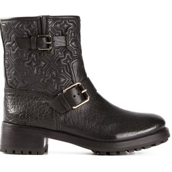 Tory Burch 'Jesse' quilted biker boots