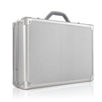 Silver Retro Cash Briefcase