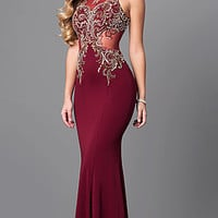 Embellished Bodice Long Prom Dress