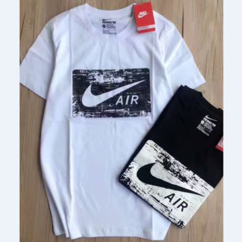 Nike Air hot Tee Shirt Short Sleeve Black White Blouse Top