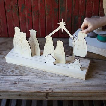 Wooden Silhouette - Nativity