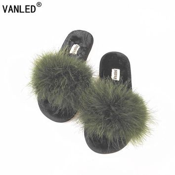 VANLED 2017 New 5 Colors Spring Summer Autumn Winter Home Cotton Plush Slippers Women Indoor\ Floor Flat Shoes Free Shipping