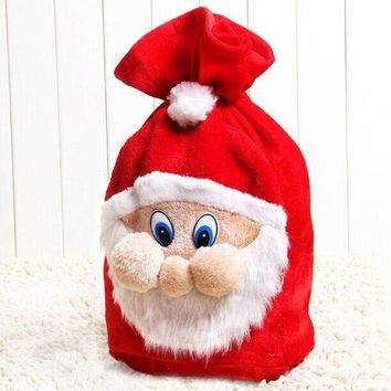 New Year Christmas Santa Claus Present Bag