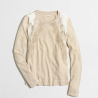 Factory lace-panel sweater