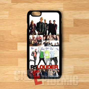 R5 Louder collage and their autograph -tri for iPhone 6S case, iPhone 5s case, iPhone 6 case, iPhone 4S, Samsung S6 Edge