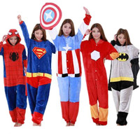 Halloween Party Cosplay Costume Adult Onesuits Avengers Batman/Ironmen/Superman/Captain America Hero Costumes Pajamas Sleepwear