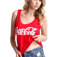 """Coca Cola"" Red Sleeveless Shirt"