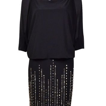 INC International Concepts Women's Beaded Blouson Dress