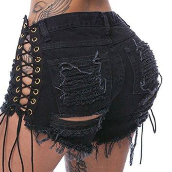 Women's Jeans Shorts Pants Waist Casual Sexy High Mini Hot Pants Denim Shorts Pants