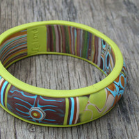 polymer clay bracelet-bright bracelet-abstract bracelets-round bracelets