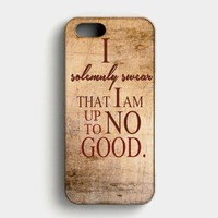 Harry Potter Quote  I Solemnly Swear That I Am Up To No Good iPhone SE Case