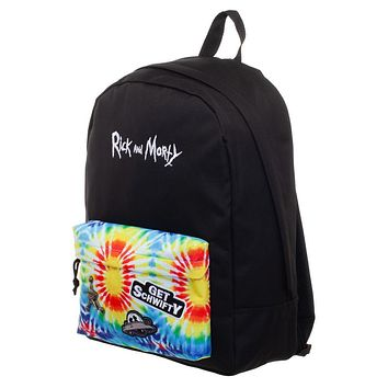 MPBP Rick and Morty Tye Dye Backpack  Rick and Morty Inspired Tye Dye Bag