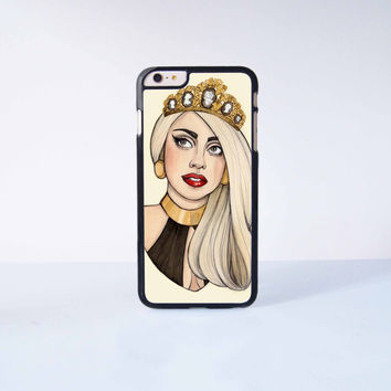 Lady Gaga Plastic Case Cover for Apple iPhone 6 Plus 4 4s 5 5s 5c 6