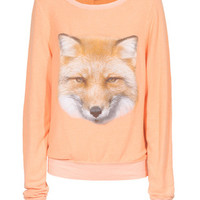 WILDFOX  Fox Face Happiness Loose cut sweater with print - Sweaters
