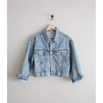 FINAL SALE! / cropped denim jacket / Guess jacket / jean jacket