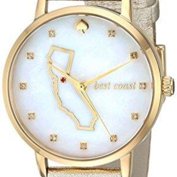 Japanese Quartz Gold Watch kate spade new york Women's KSW1300 Metro Analog Display