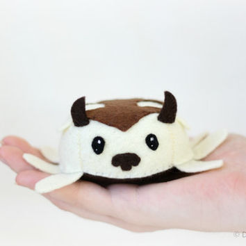 """Appa plushie - """"Officially Unofficial"""" - stuffed felt animal, geekery"""