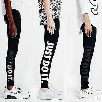 Nike Fashion Print Exercise Fitness Gym Yoga Running Leggings Sweatpants-2