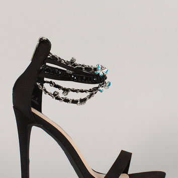 Anne Michelle Chain Ankle Strap Stiletto Heel