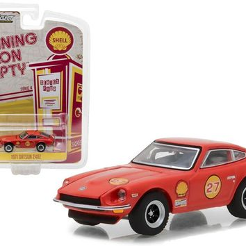 1971 Datsun 240Z Shell Oil \Running on Empty\ Series 4 1:64 Diecast Model