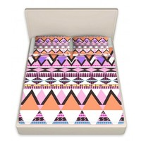 DiaNoche Designs Unique Decorative Designer Bed Sheets | Organic Saturation's Colorful Dream Nativo